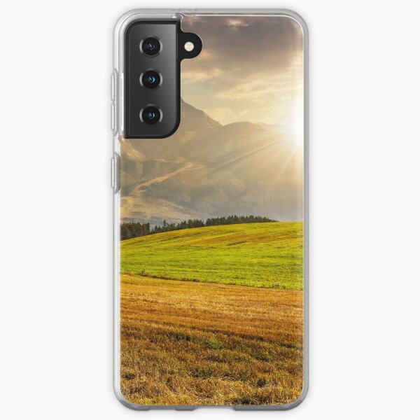 rural field in Tatra mountains  at sunset Samsung Galaxy Soft Case
