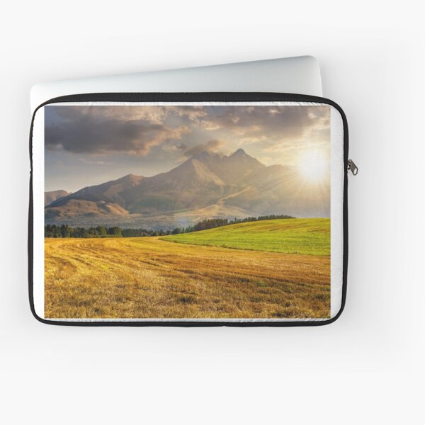 rural field in Tatra mountains  at sunset Laptop Sleeve