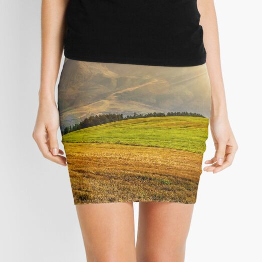 rural field in Tatra mountains  at sunset Mini Skirt