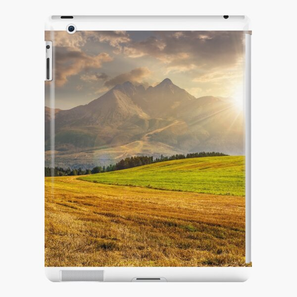 rural field in Tatra mountains  at sunset iPad Snap Case