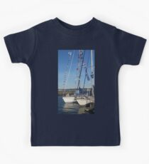Tall Ships at Salem Harbor Kids Tee