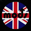 Mod Badge With England Flag Background by michelleduerden