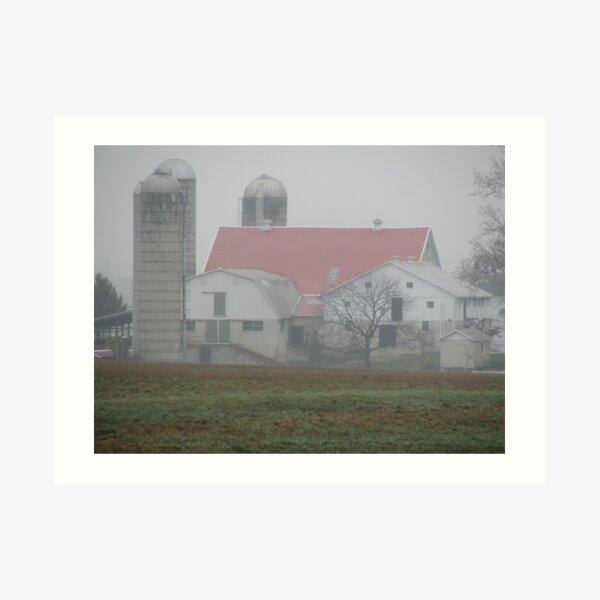 Rain on the Farm Art Print