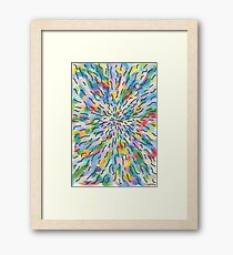 1813 - Softly Coloured Centered Around Nothing Framed Print