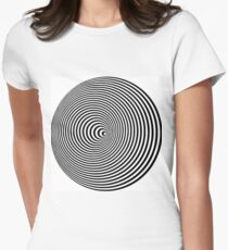 Optical illusion No.1 Women's Fitted T-Shirt