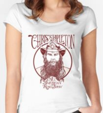 chris stapleton - all american road show Women's Fitted Scoop T-Shirt