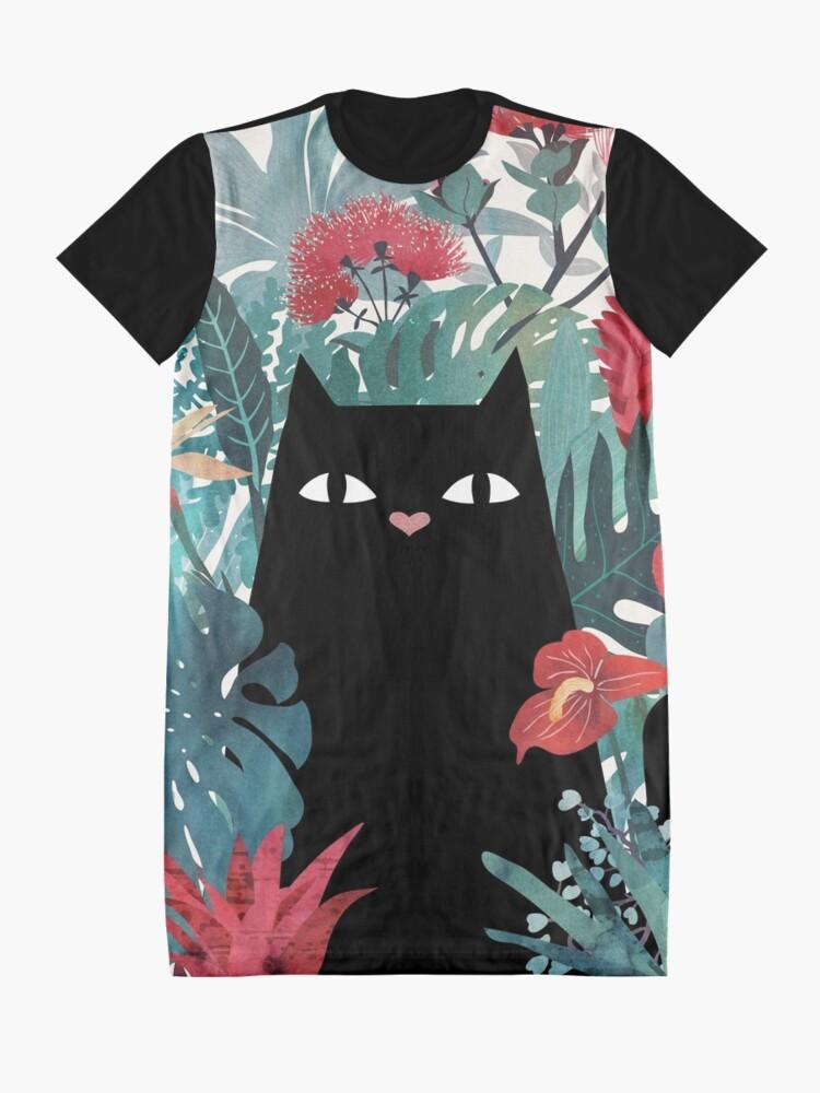 Alternate view of Popoki Graphic T-Shirt Dress