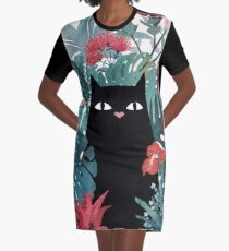 Popoki Graphic T-Shirt Dress