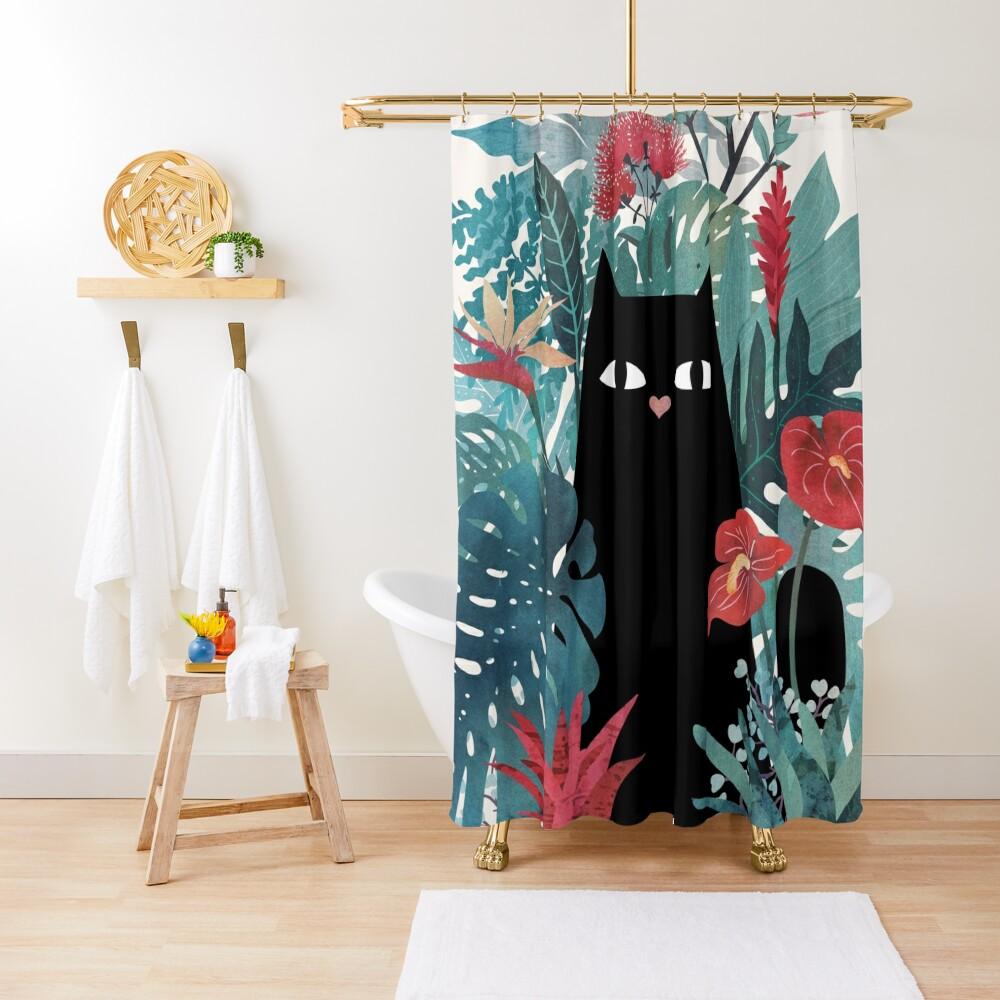 Popoki Shower Curtain