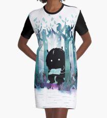 A Quiet Spot Graphic T-Shirt Dress
