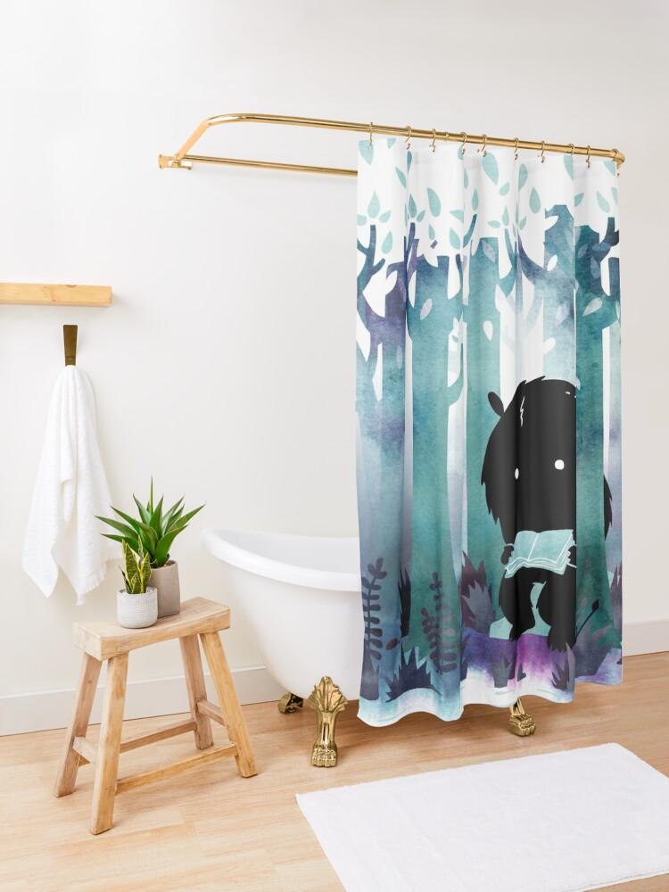 Alternate view of A Quiet Spot Shower Curtain