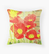 Poppyfied Throw Pillow