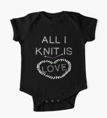 Knitting - All I Knit is Love One Piece - Short Sleeve