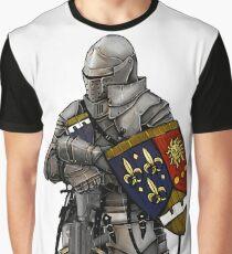 Knight With Machine Gun Graphic T-Shirt