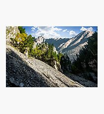 Rocky canyon with spruce trees Photographic Print