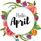 Hello April - monthly cover for bullet journal, diary, planner by vasylissa