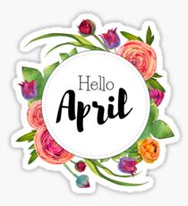 Hello April - monthly cover for bullet journal, diary, planner Sticker