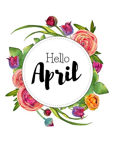 """""""Hello April - monthly cover for bullet journal, diary ..."""