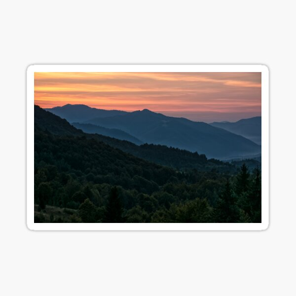 Red sky over at dusk Sticker