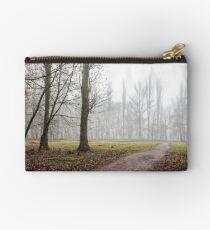 autumn park in fog Studio Pouch