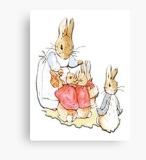 Nursery Characters, Peter Rabbit, Beatrix Potter  Canvas Print