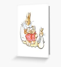 Nursery Characters, Peter Rabbit, Beatrix Potter  Greeting Card