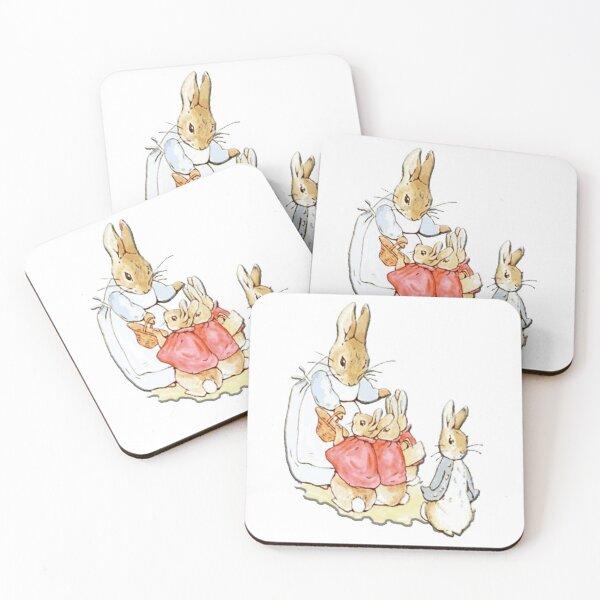 Nursery Characters. Peter Rabbit. Beatrix Potter. Coasters (Set of 4)