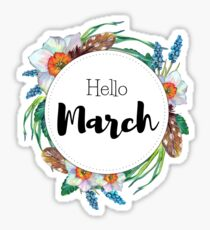 Hello March - monthly cover for planners, bullet journals  Sticker