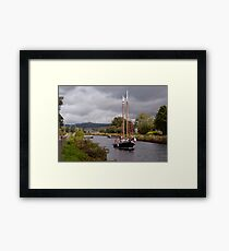 Sailing on the Crinan Framed Print