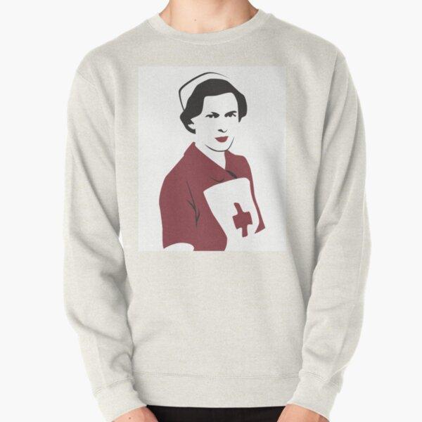 Retro Red Cross Nurse Pullover Sweatshirt