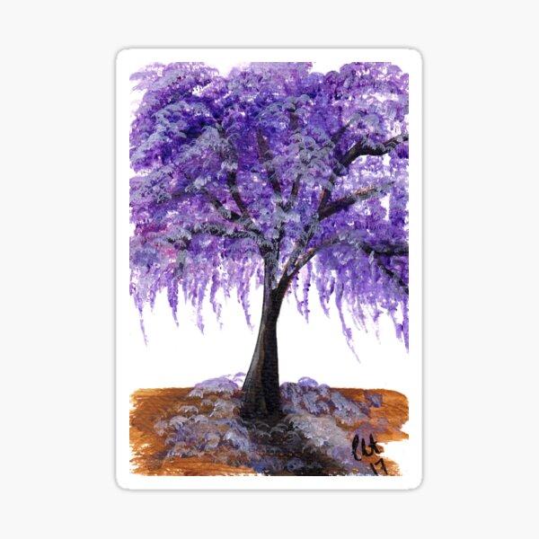 Purple Jacaranda Tree  Sticker