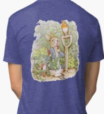 Nursery Characters, Peter Rabbit eating radishes, The Tale of Peter Rabbit Tri-blend T-Shirt