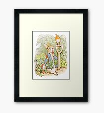 PETER RABBIT, Nursery Characters, Peter Rabbit, eating radishes, The Tale of Peter Rabbit Framed Print