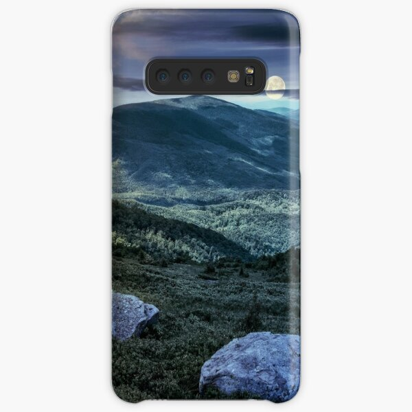 time change over stones on the edge of mountain hillside Samsung Galaxy Snap Case