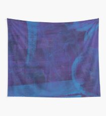blue paint Wall Tapestry