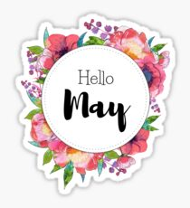 Hello May - monthly cover for planners, bullet journals Sticker
