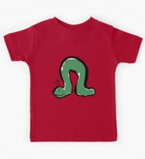 green caterpillar Kids Tee