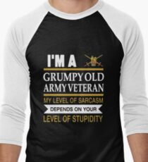 I'm A Grumpy Old Army Veteran My Level Of Sarcasm Depends On Your Level Of Stupidity Uk British T-shirts T-Shirt
