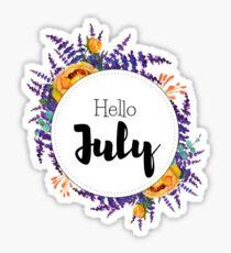 Hallo Juli - monatliche Abdeckung für Planer, Bullet Journals Sticker