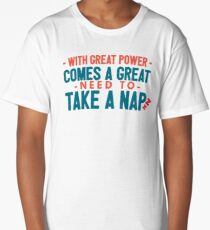with great power nico di angelo v1 Long T-Shirt