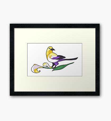 Pride Birds - Non-Binary Framed Print
