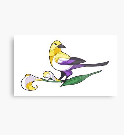 Pride Birds - Non-Binary Metal Print