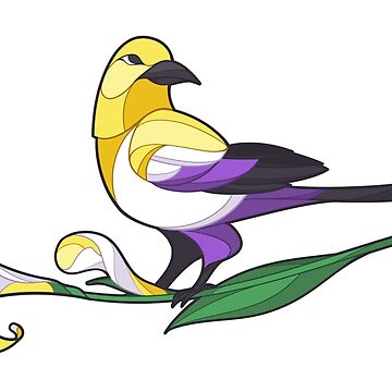 Pride Birds - Non-Binary by wanderingkotka