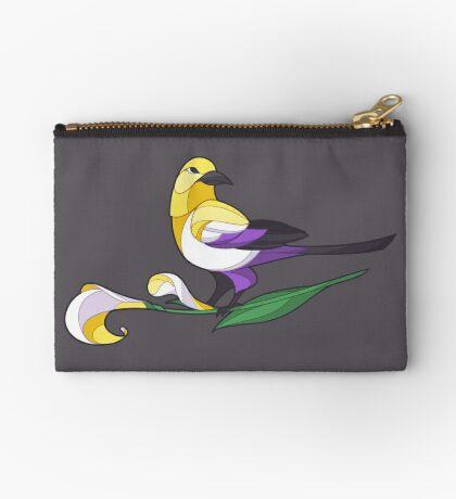 Pride Birds - Non-Binary Zipper Pouch