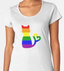 Purride Gay Pride LGBT Cat Lovers Women's Premium T-Shirt