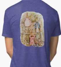 Nursery Characters, Grown up Peter in his nursery garden, The Tale of The Flopsy Bunnies Tri-blend T-Shirt