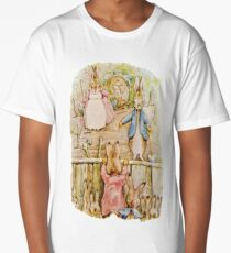 Nursery Characters, Grown up Peter in his nursery garden, The Tale of The Flopsy Bunnies Long T-Shirt