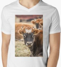 Cow 2 Mens V-Neck T-Shirt