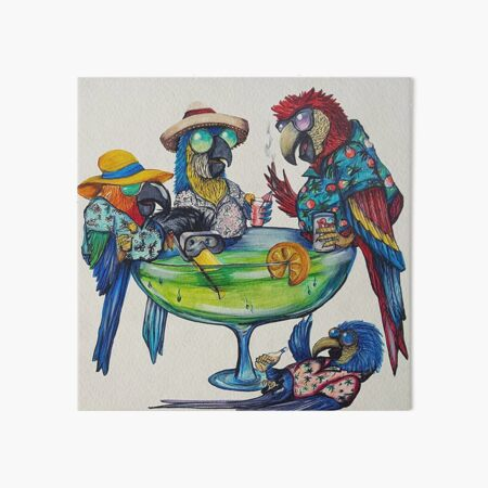 Welcome to Parrotise Art Board Print