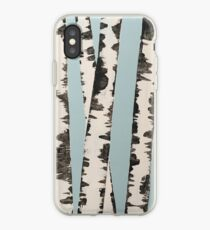 Abstract Birch trees iPhone Case